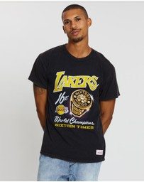 Mitchell & Ness - Bling Rings Short Sleeve Tee - LA Lakers