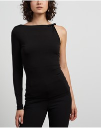 REISS - Amina Twist Shoulder Top