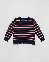 Polo Ralph Lauren - Lace Trim Sweater - Kids