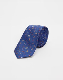 Paul Smith - Bee Floral Silk Tie