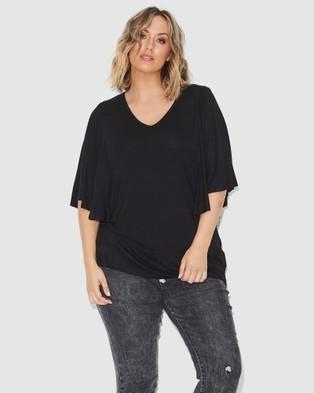 17 Sundays Drape Jersey Top - T-Shirts & Singlets (Black)