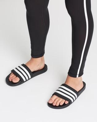 adidas Performance Adilette Comfort Slides   Women's - Sandals (Core Black & White)