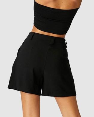 Cotton On Long Bermuda Shorts - High-Waisted (Black)