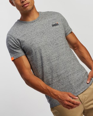 Superdry Orange Label Vintage Embroidery Tee - T-Shirts & Singlets (Flint Grit Grey)