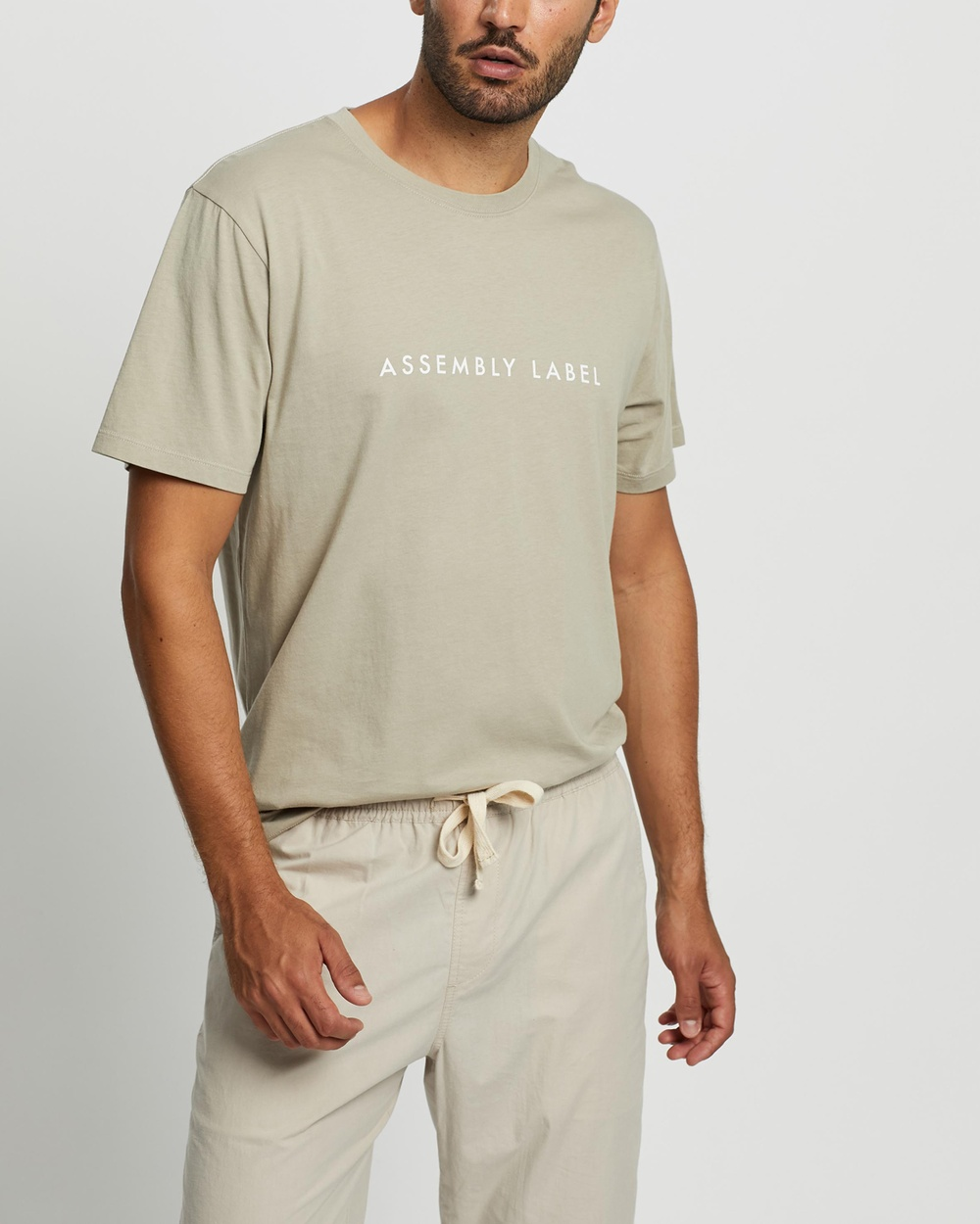 Assembly Label - Logo Tee - T-Shirts & Singlets (Washed Khaki) Logo Tee