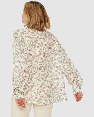 Ceres Life Celestial Shirt - Tops (White Lurex Floral)