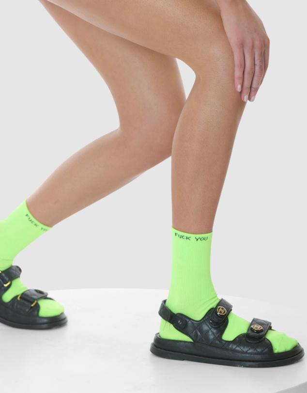 Women Neon Statement Sock