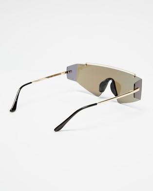 Quay Australia Transcend - Sunglasses (Gold & Blue)
