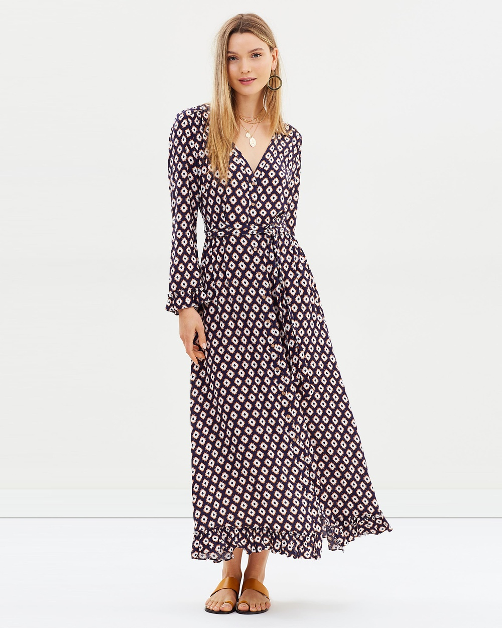 Tigerlily Parisa Maxi Dress Printed Dresses Indigo Parisa Maxi Dress