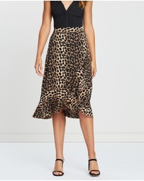 Dazie - Be Mine Wrap Midi Skirt