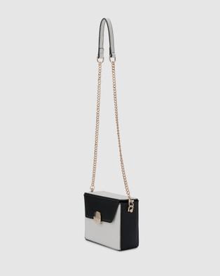 Olga Berg Arden Multi Tone Box Bag - Handbags (Black)
