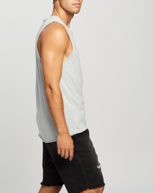 Commune Comm Muscle Tank - T-Shirts & Singlets (Washed Blue)