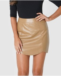 Amelius - Camille Vegan Leather Skirt