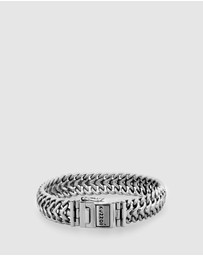 Kuzzoi - Bracelet Men Cool Basic 925 Sterling Silver