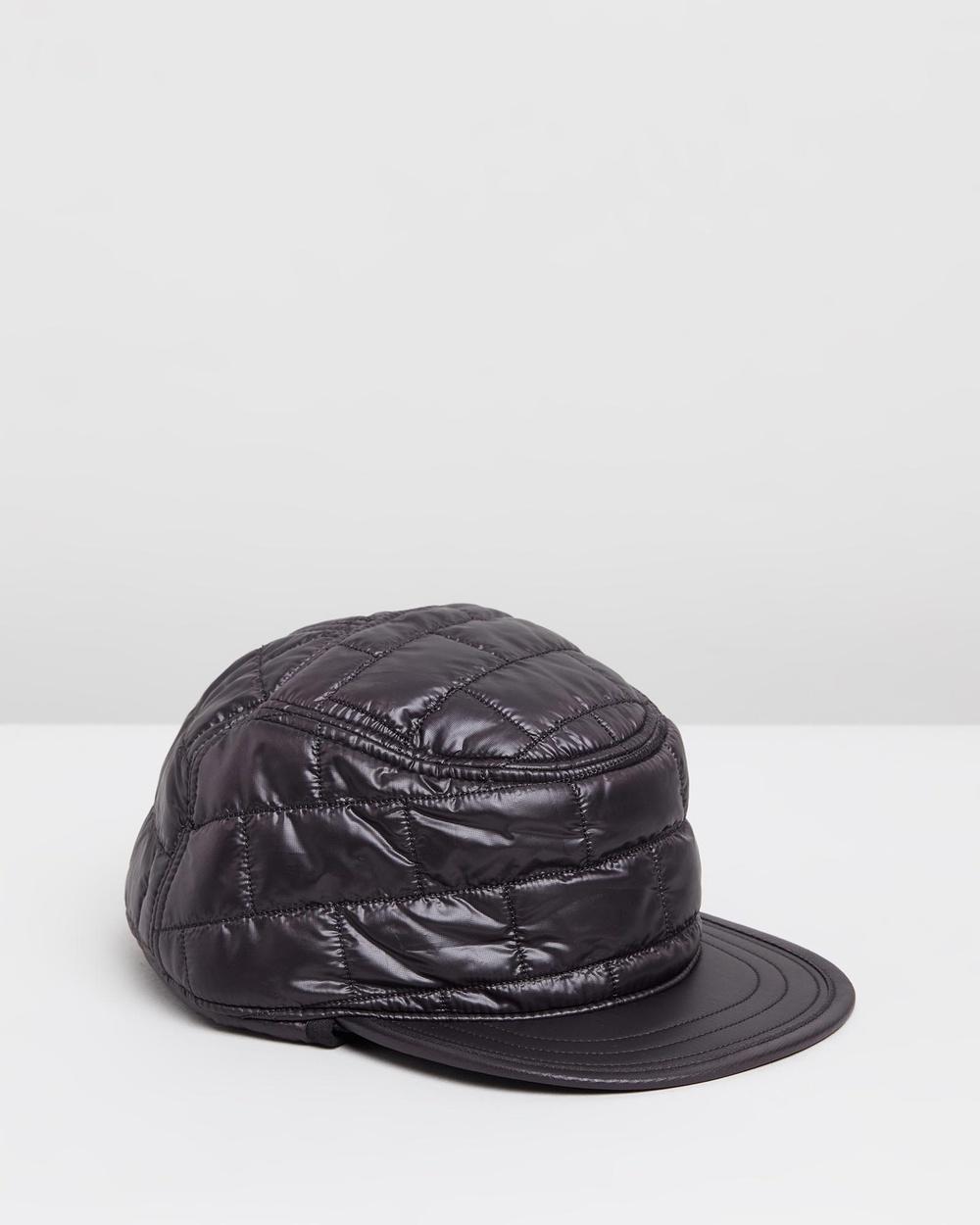 Patagonia Nano Puff Earflap Cap Headwear Black