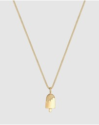 Elli Jewelry - Necklace Ice Cream Pendant Summer 925 Sterling Silver Gold Plated