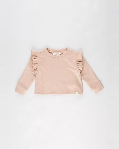 Selma Long Sleeve Loose Short Sweat - Kids