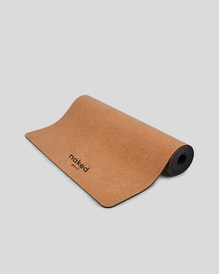 Naked Soul Lion Head Cork Yoga Mat - Gym & Yoga (Brown)