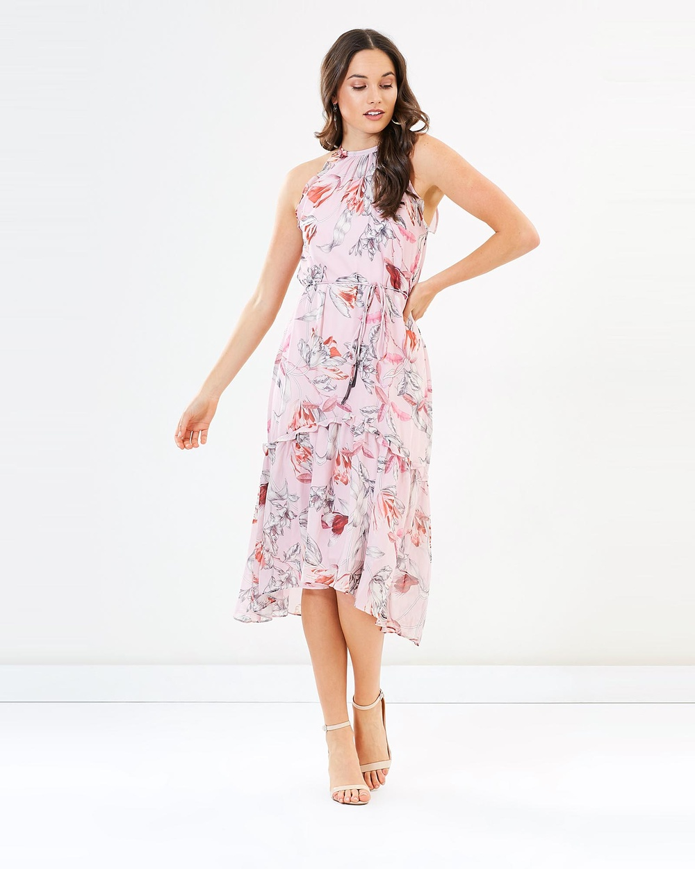 Cooper St Fontaine Tassel Midi Dress Dresses Print Fontaine Tassel Midi Dress