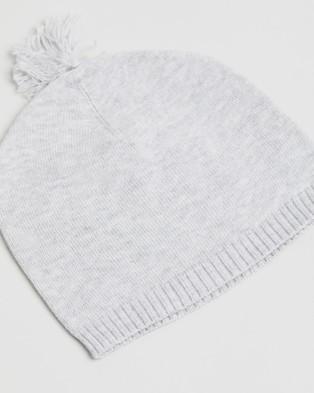 Purebaby Essentials Newborn Beanie   Babies - Headwear (Pale Grey Melange)