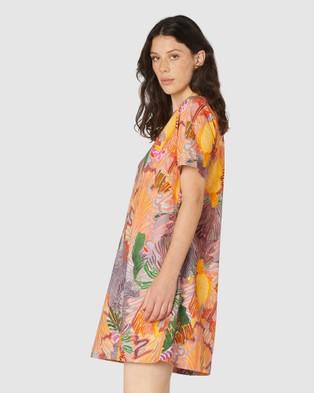Gorman Iris Veins Swing Dress Dresses Multi