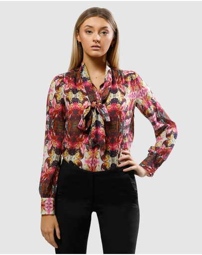 Pizzuto Los Angeles Tie Blouse Multi