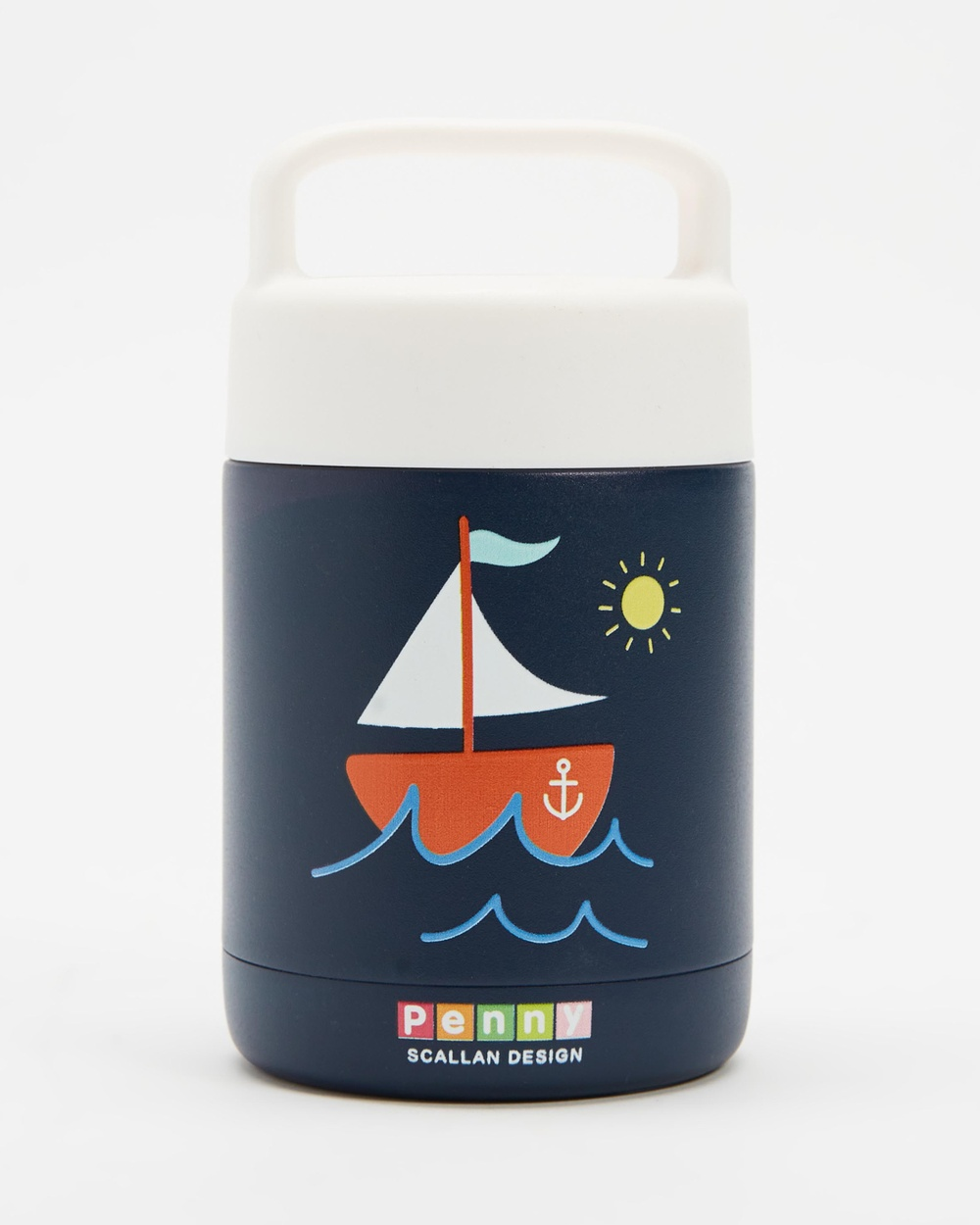Penny Scallan Thermal Flask Kids Home Anchors Away