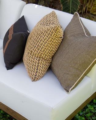 Bandhini Design Diamond Weave Cushion - Home (Black)
