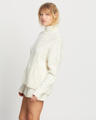 Jasmine and Will Cable Knit Set - Two-piece sets (Ivory)