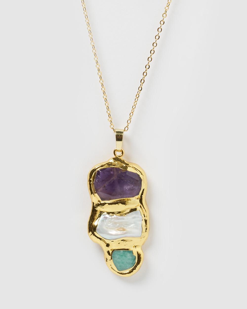 Miz Casa and Co Monti Necklace Jewellery Gold