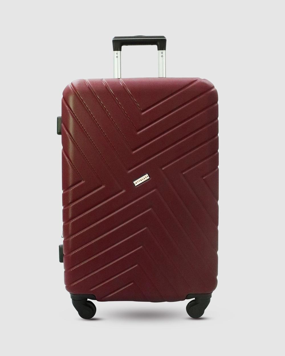 JETT BLACK Merlot Maze Large Suitcase Bags Red