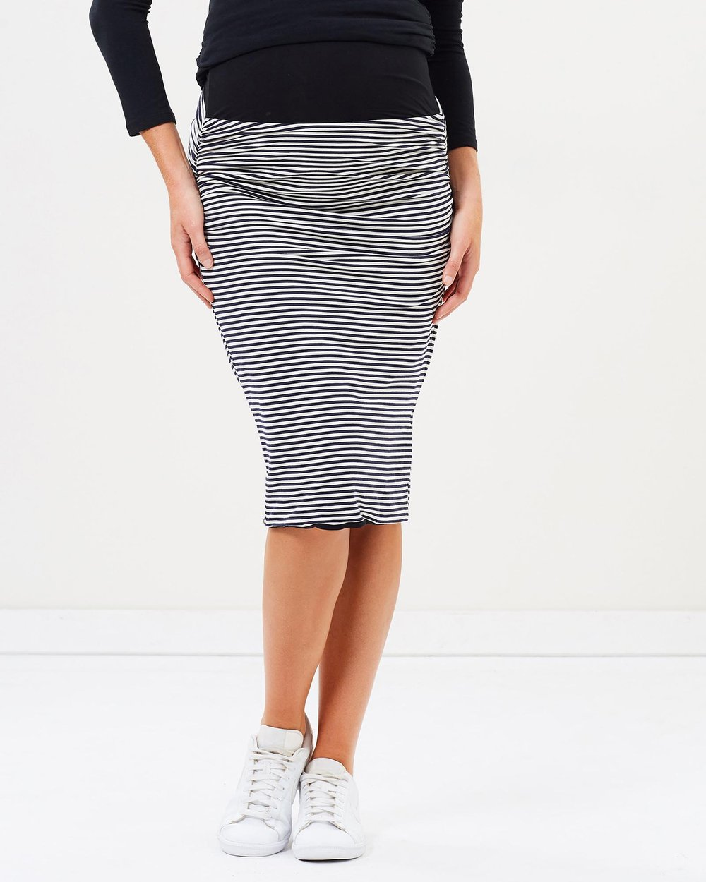 4d5a4c168249f Reversible Maternity Pencil Skirt in Stripes by Angel Maternity Online |  THE ICONIC | Australia