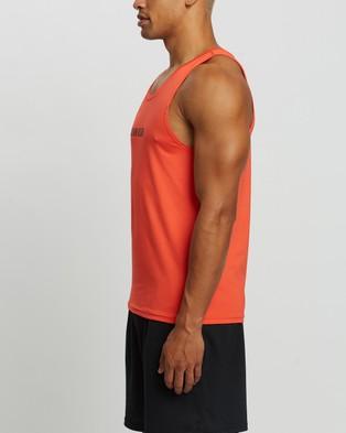 Calvin Klein Performance - Ck Logo Tank Muscle Tops (Safari Rose)