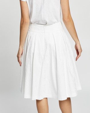 Review Grace Skirt - Pleated skirts (White)
