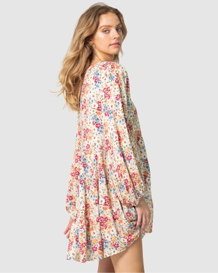 Three of Something Light Meadow Floral Coogee Dress Printed Dresses Light Floral