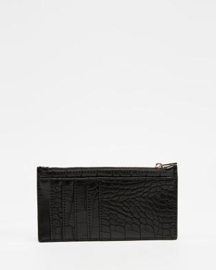 PETA AND JAIN Marley Slim Wallet - Wallets (Black Croc)
