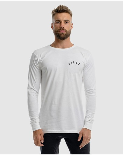 First Division Core Crest Long Sleeve Tee White