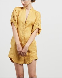 KITX - Front-Knot Short Shirt Dress