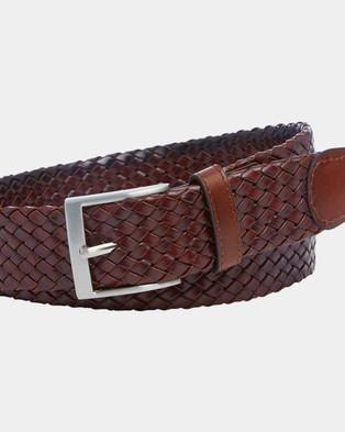 Buckle Mossman 35mm Plaited Belt - Belts (Brown)