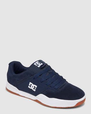DC Shoes Mens Central Shoe - Low Top Sneakers (DC NAVY/GUM)