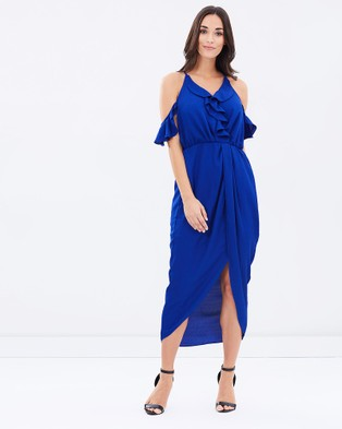 3rd Love – Simplistic Royal Ruffle Wrap Dress – Dresses (Blue)