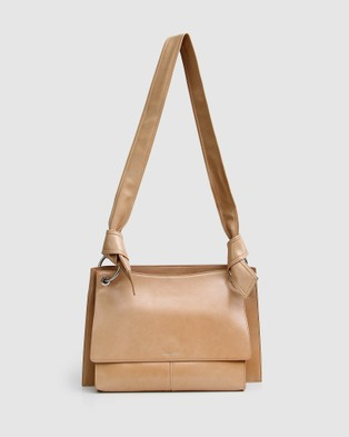 Belle & Bloom Better Together Messenger Bag Gift Pack - Satchels (Camel)