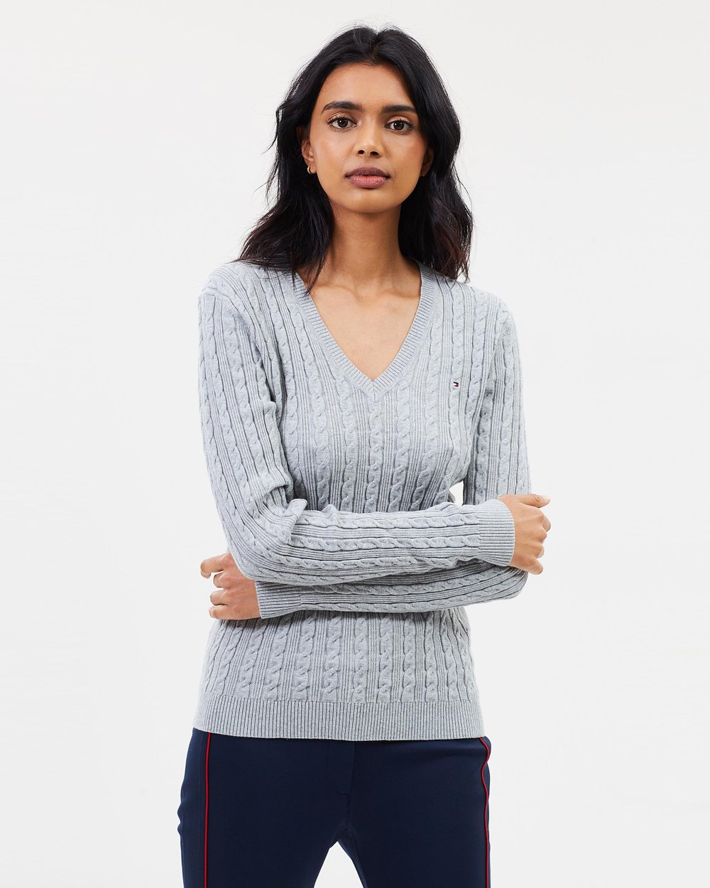 93e1c697a9 Classic Cable V-Neck Knit by Tommy Hilfiger Online