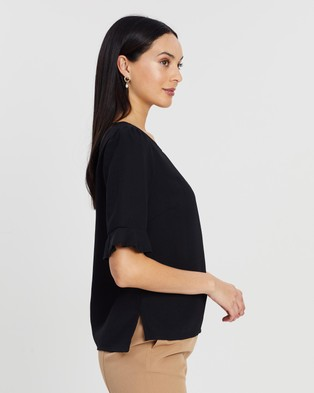 Atmos&Here - Shelby Top - Tops (Black) Shelby Top