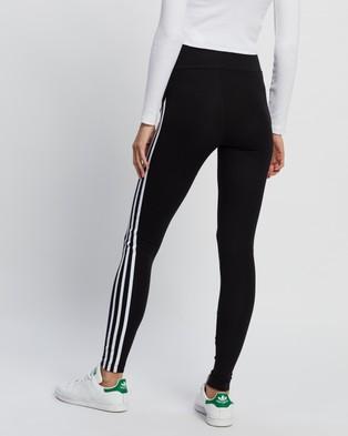 adidas Originals Adicolour Sliced Trefoil High Waisted Tights - Pants (Black & White)