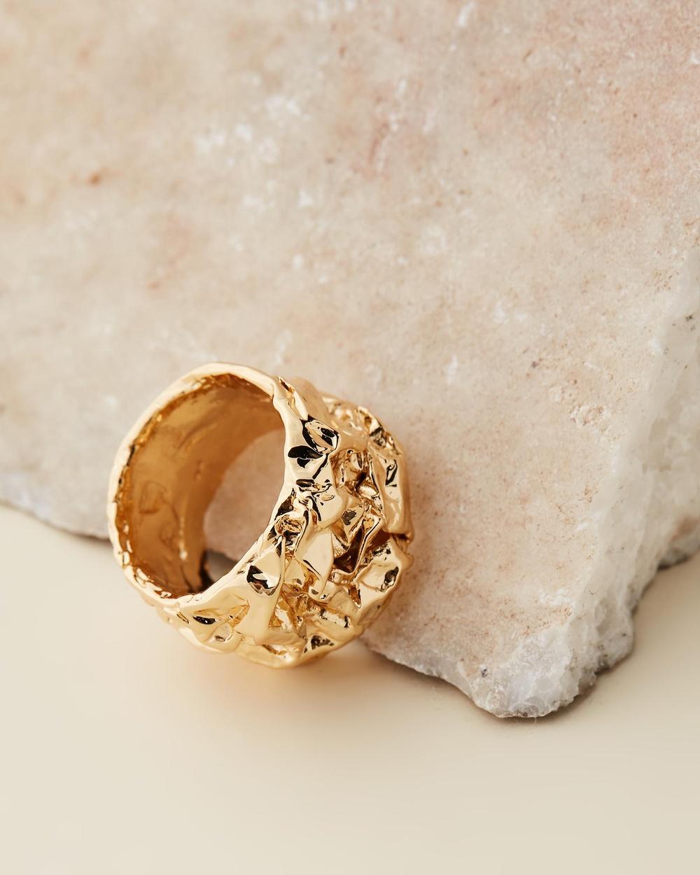 Amber Sceats Jadé Tunchy x Capri Ring Jewellery Gold