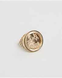 Chained & Able - Sterling Silver Old English Sovereign Ring