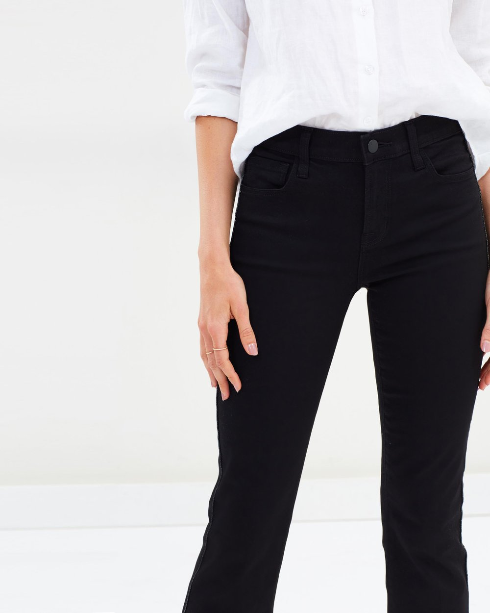 2c796648c4a Selena Mid Rise Crop Boot Cut Jeans by J Brand Online | THE ICONIC |  Australia