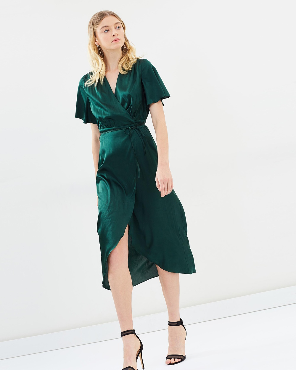Hansen & Gretel Edie Silk Dress Dresses Forest Green Edie Silk Dress