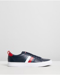 Tommy Hilfiger - Flag Detail Leather Sneakers